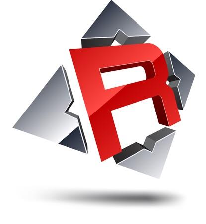 logo letter: Illustration of R
