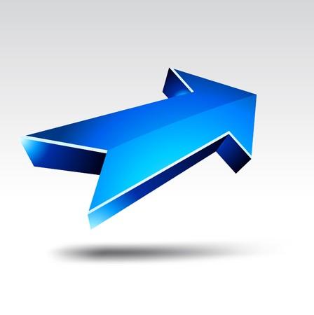 3D blue arrows. illustration.