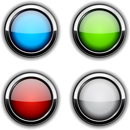 Collection of glossy buttons. illustration. Stock Vector - 7130278