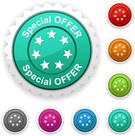 offerta speciale: Offerta speciale premio pulsante.