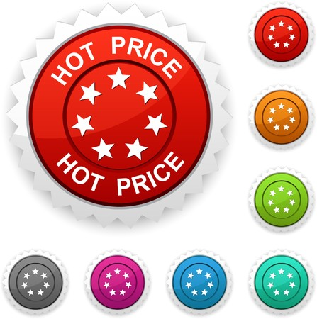 hot price:  Hot price award button.