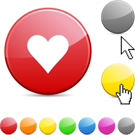 Love  glossy vibrant round icon. Stock Vector - 7156257
