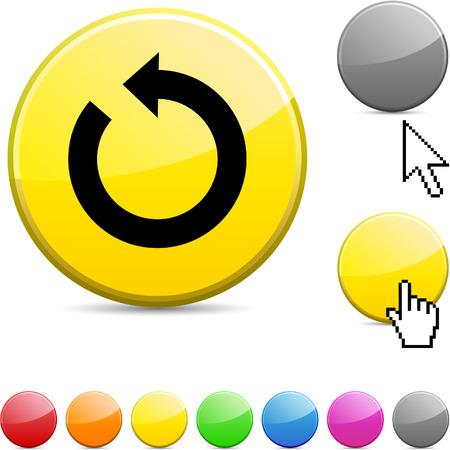Refresh glossy vibrant round icon. Stock Vector - 7182179