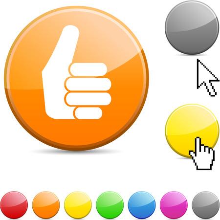 Good glossy vibrant round icon. Stock Vector - 7195306