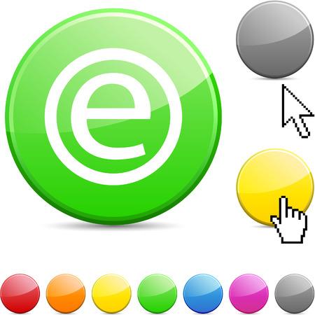Enternet glossy vibrant round icon. Stock Vector - 7195313