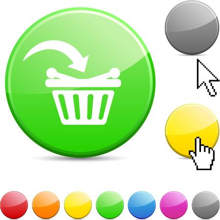 Buy glossy vibrant round icon.  Stock Vector - 7195321