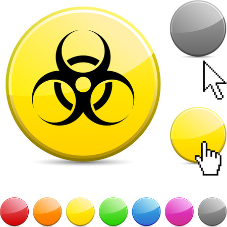 ailment: Icono de ronda vibrante brillante en virus.  Vectores