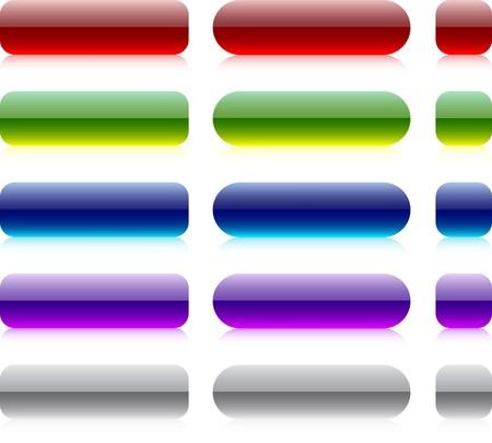 Blank web bar buttons. Stock Vector - 7210334