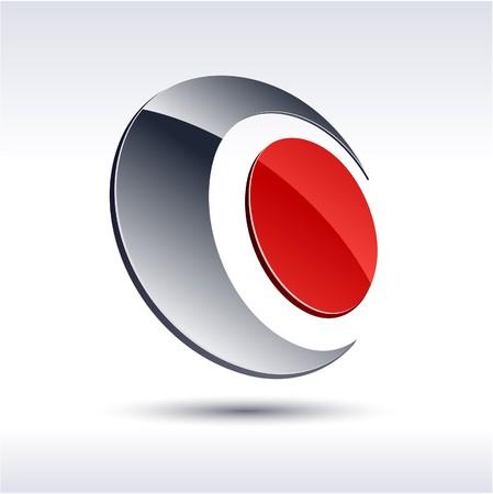 logotipo abstracto: Ilustraci�n de 3d logotipo abstracto.  Vectores