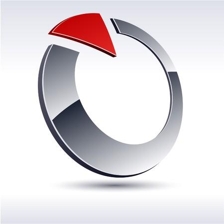 Abstract modern 3d logo.