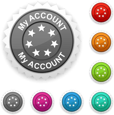 My account award button.   Vector