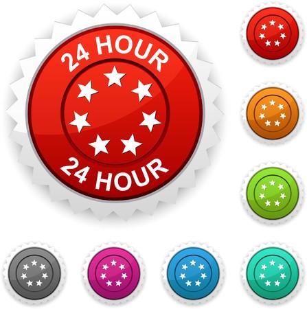 24 hour:  24 hour award button.