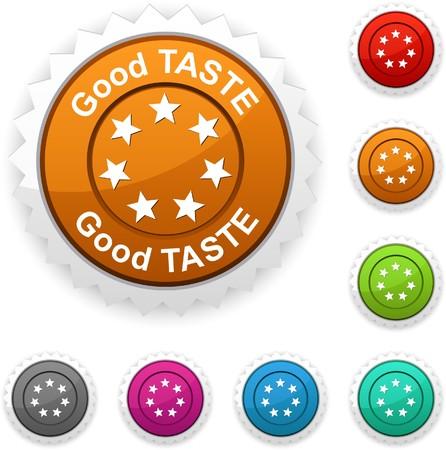 Good taste award button Vector