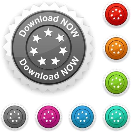 Download now award button Vector