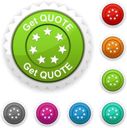 Get quote award button. Stock Vector - 7210414