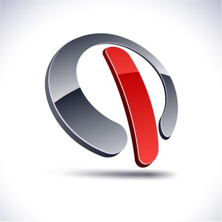 protuberant: Abstract modern 3d switch logo. Illustration