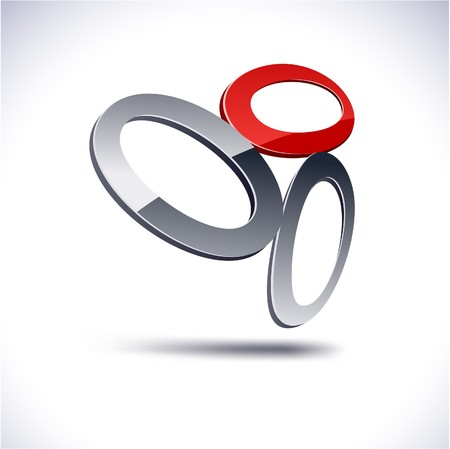 protuberant: Abstract modern 3d oval logo.