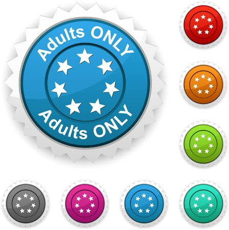 internet porn: Adults only award button.