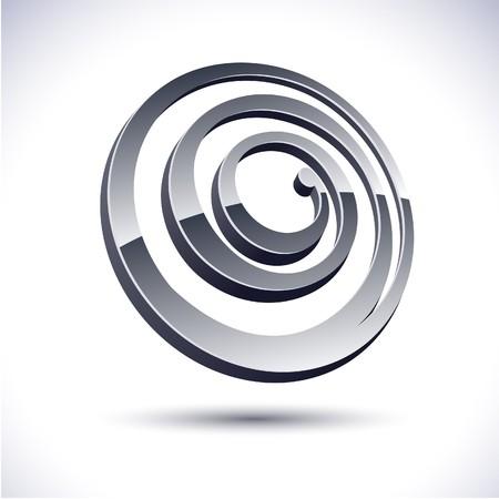 Abstract modern 3d spiral logo.  Illustration