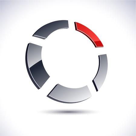 convex: Abstract modern 3d ring logo.