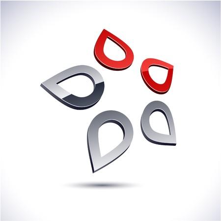Abstract modern 3d star logo. Stock Vector - 7210337
