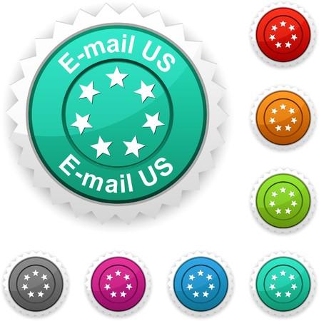 E-mail us award button Stock Vector - 7210409