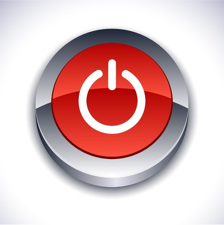 shiny buttons: Switch metallic 3d vibrant round icon.