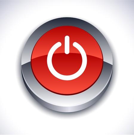Switch metallic 3d vibrant round icon. Stock Vector - 7214742