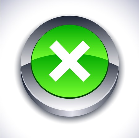 abort: Abort metallic 3d vibrant round icon.