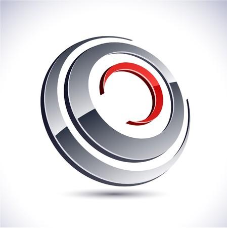 logo circle: Abstract modern 3d round logo. Vector. Illustration