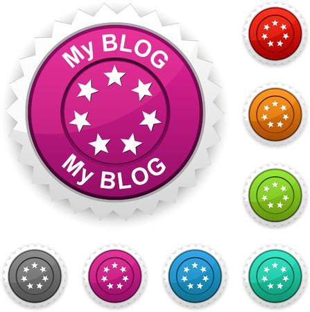 My blog award button. Vector. Stock Vector - 7242275