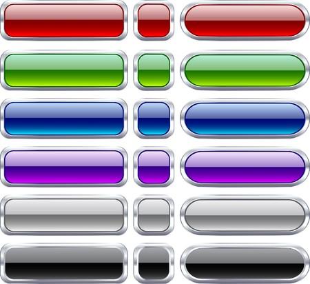 Blank web bar buttons. Vector. Stock Vector - 7242241