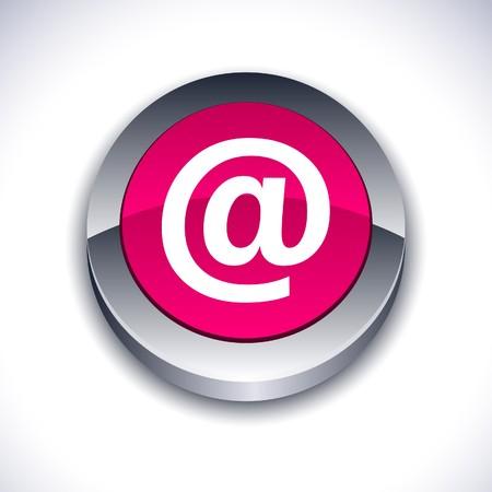 arroba: Arroba metallic 3d vibrant round icon.