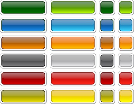 knop: Lege web kleurknoppen. Vector.  Stock Illustratie