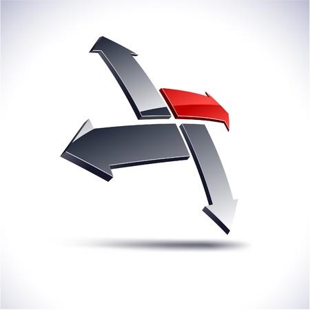 ir�ny: Abstract modern 3d compass logo. Vector.