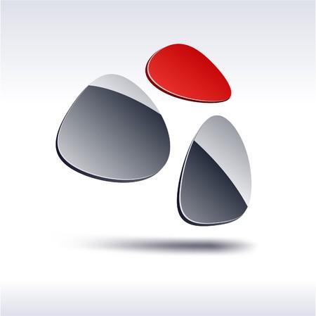 salient: Abstract modern 3d logo. Vector.  Illustration