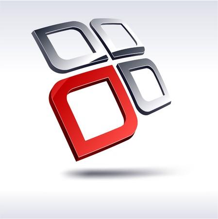 protuberant: Abstract modern 3d logo. Vector.  Illustration