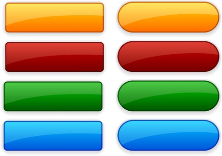 Blank web color buttons. Vector.  Illustration