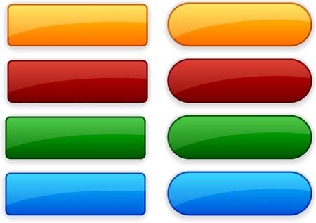 Pulsanti di colore web vuota. Vector.  Vettoriali