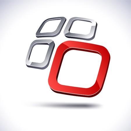 Abstract modern 3d logo. Vector. Stock Vector - 7347492