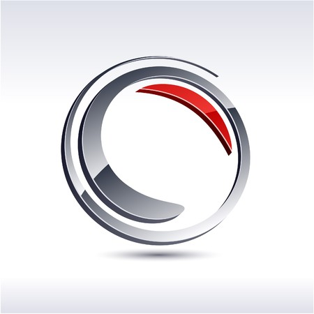 logo circle: Abstract modern 3d swirl logo. Vector.