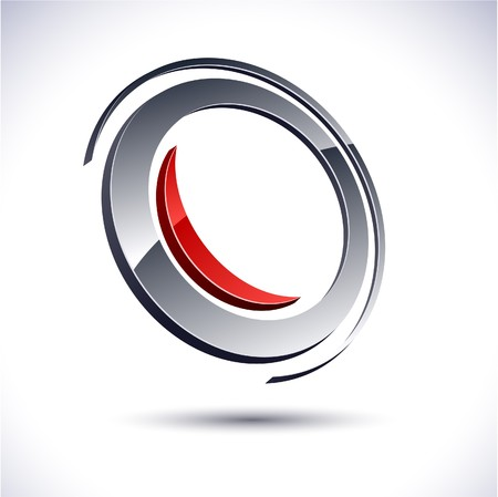 round logo: Abstract modern 3d round logo.