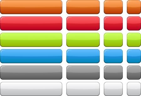 Blank rectangular color buttons Stock Vector - 7272325