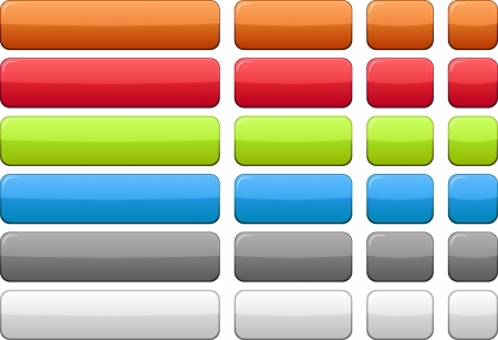rectangle button: Blank rectangular color buttons