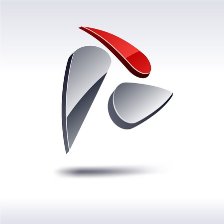 Abstract modern 3d rotate logo Stock Vector - 7272323