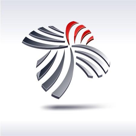 Abstract modern 3d logo Logo