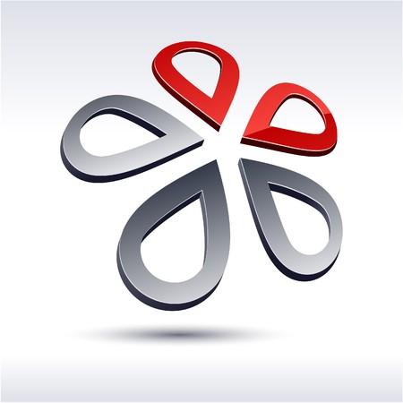 Abstract modern 3d star logo Stock Vector - 7272320