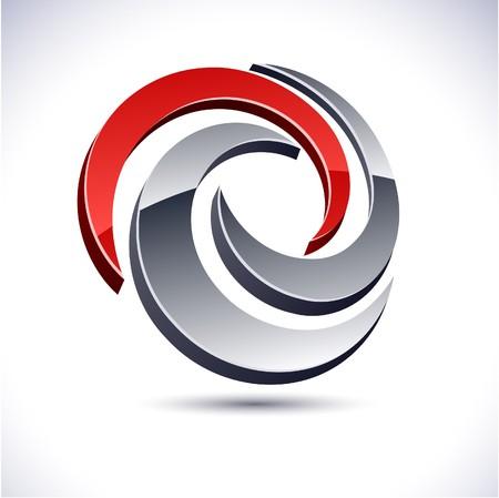protuberant: Abstract modern 3d swirl logo