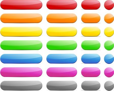 Long and short pill buttons.  Stock Vector - 7285191