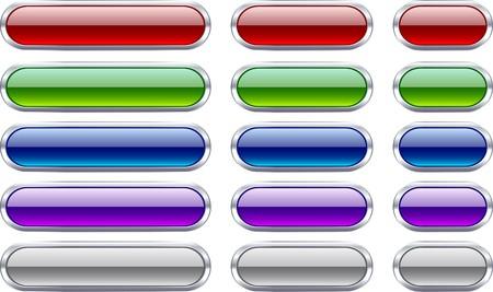 chrome: Long and short metallic buttons.